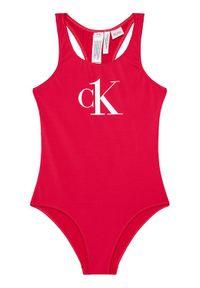 Różowy strój jednoczęściowy Calvin Klein Swimwear