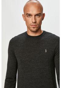 Szary sweter Polo Ralph Lauren z długim rękawem, długi