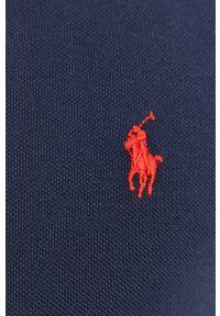 Polo Ralph Lauren - Longsleeve. Typ kołnierza: polo. Kolor: niebieski. Materiał: dzianina. Długość rękawa: długi rękaw