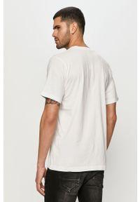 Biały t-shirt Diesel na co dzień, z nadrukiem, casualowy