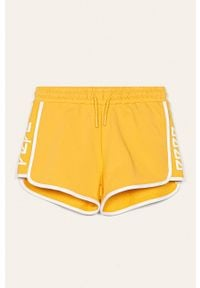 Żółte spodenki Pepe Jeans sportowe