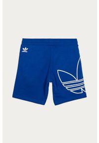 Niebieskie spodenki adidas Originals z nadrukiem, na co dzień, casualowe