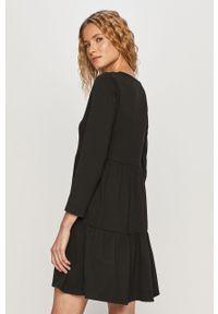 Czarna sukienka Haily's z długim rękawem, casualowa, na co dzień, rozkloszowana