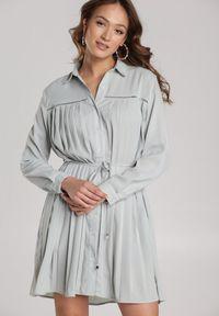 Renee - Błękitna Sukienka Newfalls. Kolor: miętowy