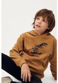 Brązowa bluza Mango Kids casualowa, na co dzień #7