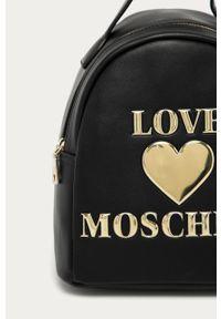Czarny plecak Love Moschino z aplikacjami, elegancki