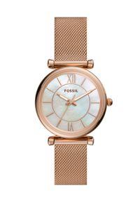 Fossil - FOSSIL - Zegarek ES4918. Kolor: złoty. Materiał: materiał
