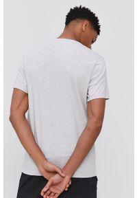 Calvin Klein Underwear - T-shirt piżamowy. Kolor: szary. Materiał: dzianina