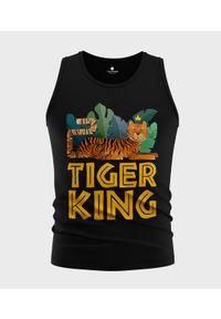 MegaKoszulki - Koszulka męska bez rękawów Tiger King. Materiał: bawełna. Długość rękawa: bez rękawów