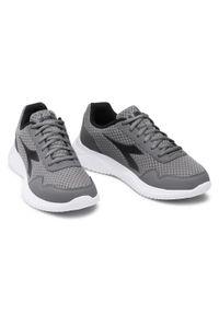 Szare buty do biegania Diadora z cholewką