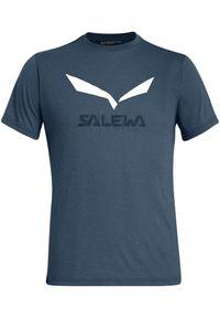 Salewa - SALEWA Koszulka męska Solidlogo Drirelease navy