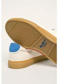 Kremowe sneakersy Pepe Jeans z cholewką, na sznurówki #5
