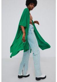 Answear Lab - Kardigan. Kolor: zielony. Styl: wakacyjny