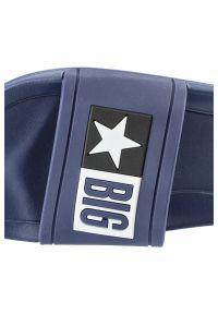 Big-Star - Klapki BIG STAR DD174701 403 Granat. Wzór: napisy. Styl: wakacyjny