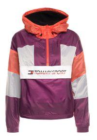 Kurtka puchowa Tommy Sport sportowa, w kolorowe wzory