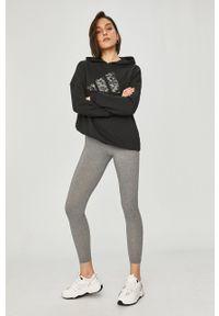 adidas Performance - Bluza. Typ kołnierza: kaptur. Kolor: czarny. Materiał: dzianina. Wzór: nadruk
