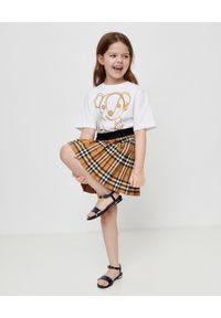 BURBERRY CHILDREN - Spódnica w kratę 4-14 lat. Kolor: brązowy. Materiał: materiał. Sezon: lato. Styl: elegancki