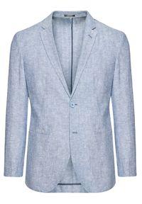 Jack&Jones PREMIUM Marynarka Ray 12184969 Niebieski Super Slim Fit. Kolor: niebieski