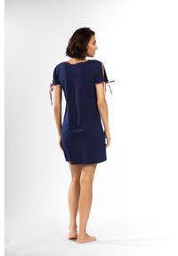 Lorin - Koszula nocna. Kolor: niebieski. Materiał: dzianina. Długość: krótkie