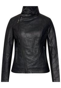 Desigual Kurtka skórzana Oslo 21SWEW73 Czarny Regular Fit. Kolor: czarny. Materiał: skóra