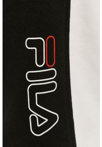 Czarne spodnie dresowe Fila gładkie