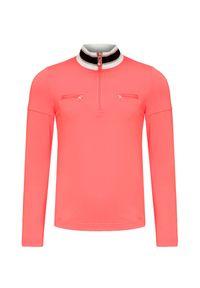 Pomarańczowa bluza Poivre Blanc ze stójką, w prążki