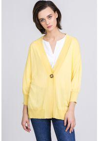Żółty sweter Monnari casualowy, na co dzień
