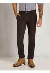 Brązowe spodnie TOP SECRET klasyczne, długie, do pracy