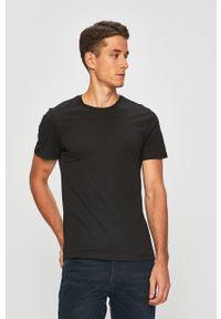 Levi's® - Levi's - T-shirt (2-pack). Okazja: na spotkanie biznesowe. Kolor: czarny. Materiał: dzianina. Styl: biznesowy