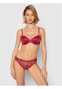 Calvin Klein Underwear Biustonosz z fiszbiną 000QF6201E Bordowy. Kolor: czerwony
