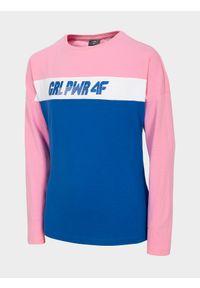 Różowa bluzka z długim rękawem 4f