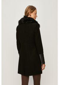 Czarny płaszcz Morgan na co dzień, casualowy