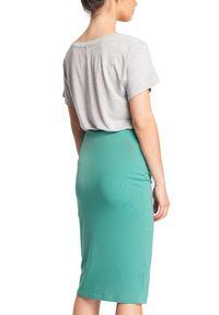 BE - Ołówkowa miękka sportowa spódnica z kieszeniami. Materiał: materiał, dzianina, bawełna, elastan. Styl: sportowy
