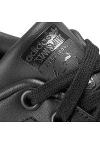 Czarne buty sportowe Adidas z paskami, tenisowe, Adidas Stan Smith