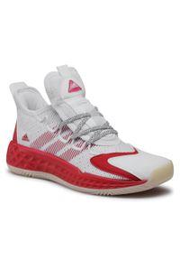 Białe buty do koszykówki Adidas z cholewką