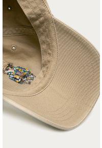 Oliwkowa czapka z daszkiem Polo Ralph Lauren z aplikacjami
