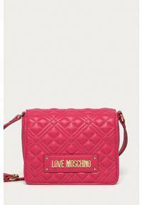 Love Moschino - Torebka. Kolor: różowy. Materiał: pikowane