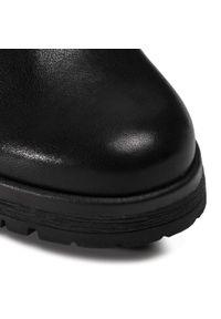 Czarne botki Gabor na średnim obcasie, z cholewką, na obcasie