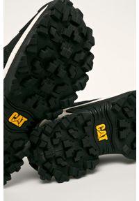 Czarne sneakersy CATerpillar na sznurówki, z cholewką