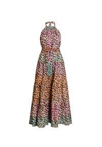 Sukienka Juliet Dunn na lato, maxi, na imprezę, z nadrukiem