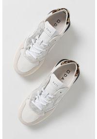 D.A.T.E. - Buty Luna. Nosek buta: okrągły. Zapięcie: sznurówki. Kolor: biały. Materiał: guma. Obcas: na platformie