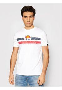 Ellesse T-Shirt Glisenta SHI09758 Biały Regular Fit. Kolor: biały