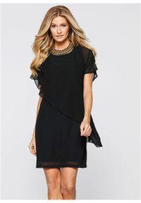Czarna sukienka bonprix asymetryczna