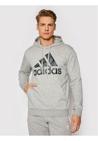Adidas - adidas Bluza Essentials Camouflage GL0020 Szary Regular Fit. Kolor: szary