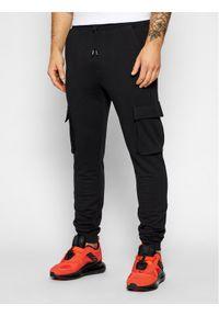 Only & Sons - ONLY & SONS Spodnie dresowe Kian 22019485 Czarny Regular Fit. Kolor: czarny. Materiał: dresówka