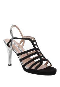 Czarne sandały Tamaris casualowe, na lato, na co dzień