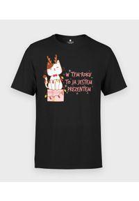 MegaKoszulki - Koszulka męska Prezent. Materiał: bawełna