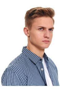 Niebieska koszula TOP SECRET długa, z długim rękawem, na wiosnę