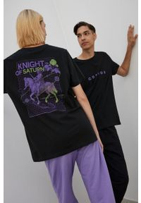 medicine - Medicine - T-shirt bawełniany Unisex. Kolor: czarny. Materiał: bawełna. Wzór: nadruk