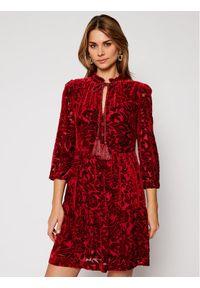 Czerwona sukienka Luisa Spagnoli casualowa, prosta, na co dzień